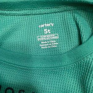 Carter's Shirts & Tops - Green 5t dinosaur shirt